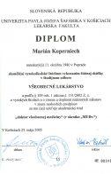 Diplom - všeobecné lekárstvo